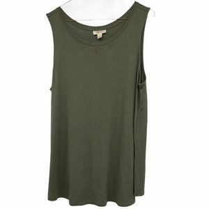 💜 5/$25 - Style & Co loose olive green tank top
